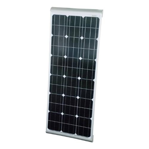 Solar Panel Sun Plus Aero 100W 12V, with integrated aluminum spoilers for RVs