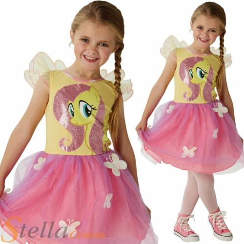 Girls Deluxe Fluttershy My Little Pony Costume Child Fancy Dress Outfit