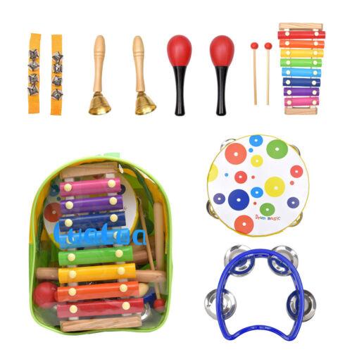 22pc en bois enfants instruments de musique musical Kit Set Jouet Enfants Percussion doll