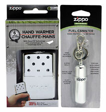 Zippo 40321 6-Hour High Polish Chrome Hand Warmer + 121503 fuel canister New