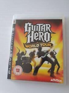 Guitar Hero: World Tour (Sony PlayStation 3: Windows, 2008) + poster + manual