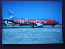 POSTCARD BOEING 737-301 AEROPLANE OF WESTERN PACIFIC LIMITED EDITION