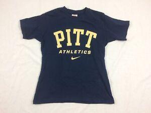 NEW-Nike-Pittsburgh-Panthers-Blue-Cotton-Short-Sleeve-Shirt-Multiple-Sizes