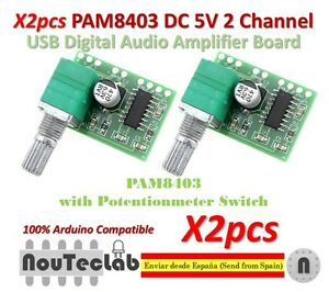 2pcs-PAM8403-5V-2-Channel-USB-Digital-Audio-Amplifier-with-Potentionmeter-Switch
