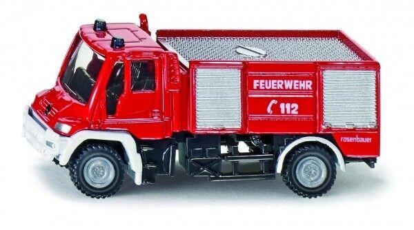 "Blister Siku 1636 Mercedes Unimog /""Feuerwehr mit Boot/"" rot Maßstab 1:87 NEU °"