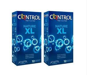 24 x Preservativos Control Nature XL Condones Sensibilidad Y Placer Relaciones