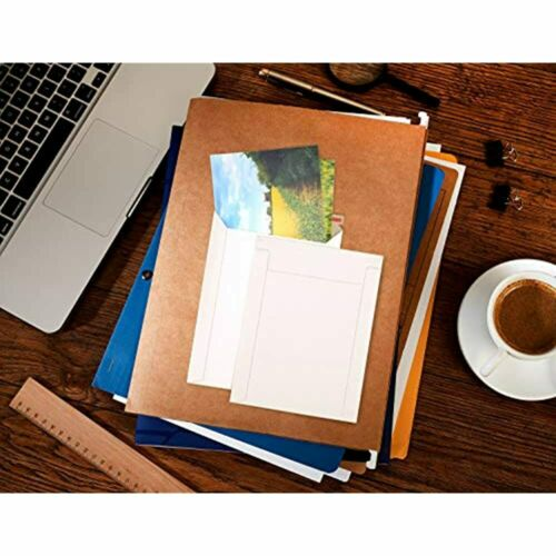 ValBox 6x8 Self Seal Photo Document Mailers 25 Pack Stay Flat White Cardboard