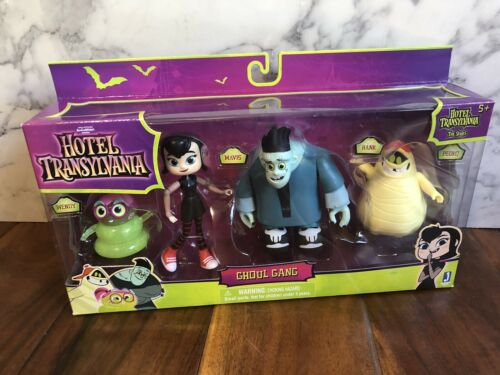 HOTEL TRANSYLVANIA 4 Figure Set Ghoul Gang Pedro Hank Mavis WENDY Halloween New