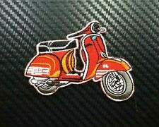 2x BLUE VESPA SCOOTER MOPED  Embroidered Iron Sew On Cloth Patch Badge APPLIQUE