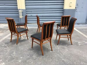 6-Dining-Chairs-in-the-Style-Of-T-H-Robsjohn-Gibbings