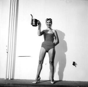 "R13 DANIELLE AUBRY 1950's Model/Actress Vintage ORIG BW Eric Herman 2¼"" NEGATIVE"