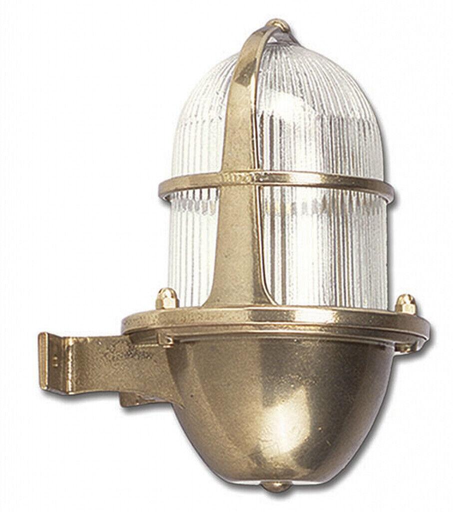 Lampada ESTERNO OTTONE ip64 inox vetro Lampada da parete Lanterna casa corte Santorini