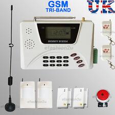 WIRELESS LCD SECURITY DUAL GSM SIM/ PSTN AUTODIAL HOUSE BURGLAR INTRUDER ALARM
