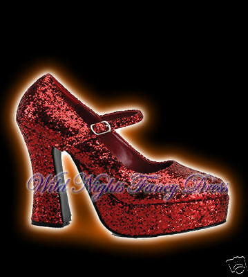 glitter platform fancy dress boots uk
