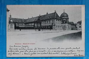 Tarjeta-Postal-Antigua-Besancon-Hospital-st-Jacques