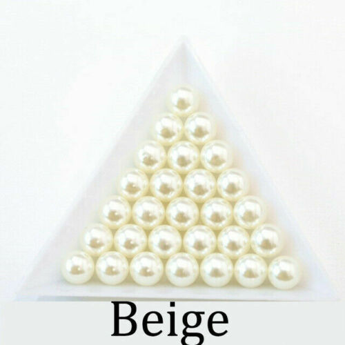 Round ABS Imitation Pearl No Hole Loose Beads DIY Craft Jewelry Making