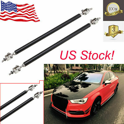 8/'/'-13/'/' Adjustable Front Bumper Lips Splitter Strut Rod Support Bars For Car