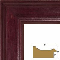 """20x24 Picture / Poster Frame, Smooth Grain Finish, 2"""" Wide, Mahogany (FM97MA) Home Furnishings"""