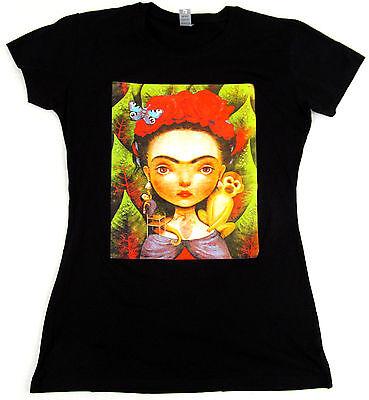 Frida Kahlo Damen T-Shirt Portrait Tee Portrait-Print der K/ünstlerin