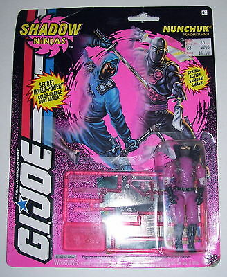 GI JOE NUNCHUK Vintage Action Figure Shadow Ninjas MOC COMPLETE v2 1994