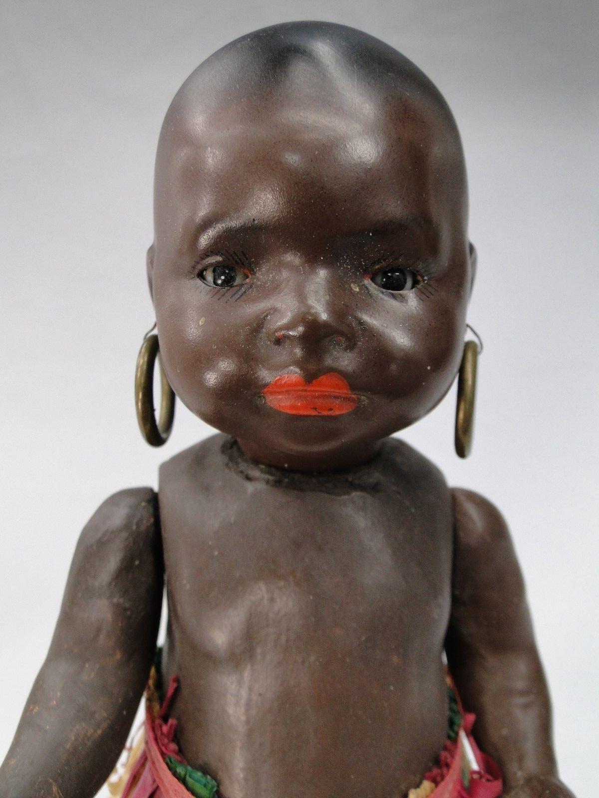 PETIT BEBE CARACTERE schwarz schwarz schwarz Ca. 1920 HEUBACH KÖPPELSDORF 399.16 0 TETE BISCUIT 357ef4