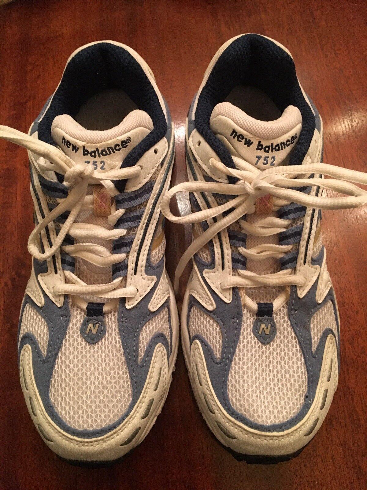 New balance ABZORB 752 mujeres 5 1 2 2 2 Nuevo Sin Etiquetas blancoo Azul Tenis Para Correr  suministro directo de los fabricantes