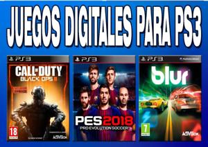 Juegos de ps3 store española ( entrega rapida)  eliga su juego