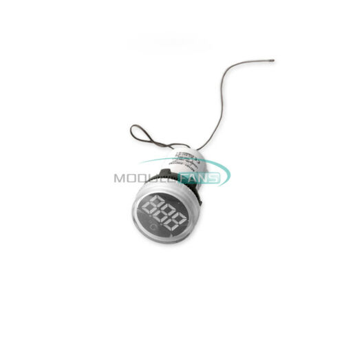 22mm Thermometer Indicator Light LED Digital Display Temperature Meter AC50-380V
