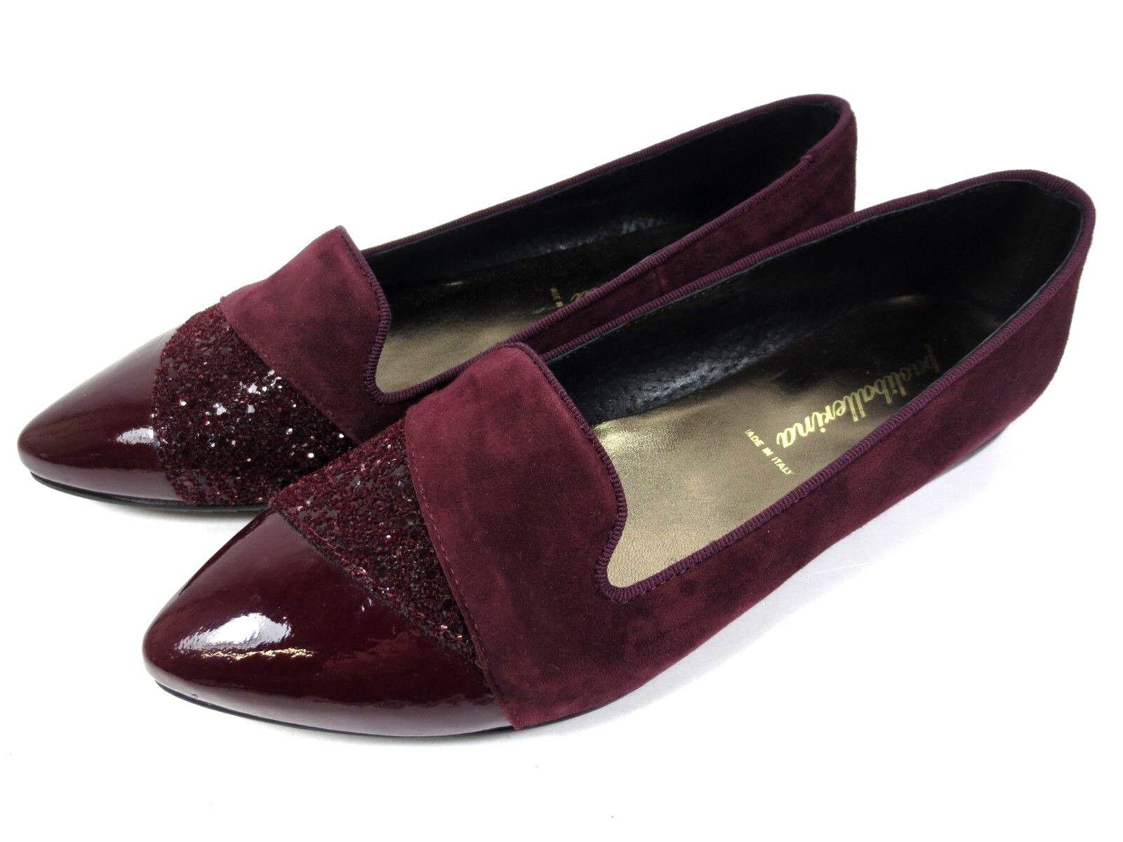 Paoli Ballerina Ital Leather scarpe Lofers Ballerinas Bordeaux  rosso NEW 109,95  sconto online di vendita