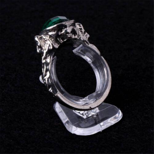 5pcs Transparente Ring Zeigen Kunststoff Displays Schmuck Halter Stand Halter