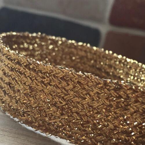 """1/"""" 15//64/"""" Gold Lurex Pompons-choisir à partir de 6 mm X 5 Mètres-Glitzy *** à 25 mm"""