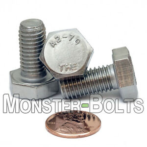 M10-1-50-x-20mm-FT-Stainless-Steel-Hex-Cap-Tap-Bolt-Screw-DIN-933-A2-Coarse