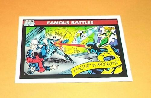 X-Factor vs Apocalypse # 117 1990 Marvel Universe Series 1 Trading Card