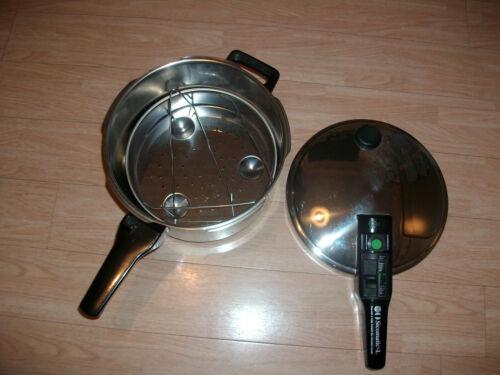 Schnellkochtopf Sicomatic - L Silit TOP Zustand Durchmesser Boden 18cm Edelstahl  3cLUP