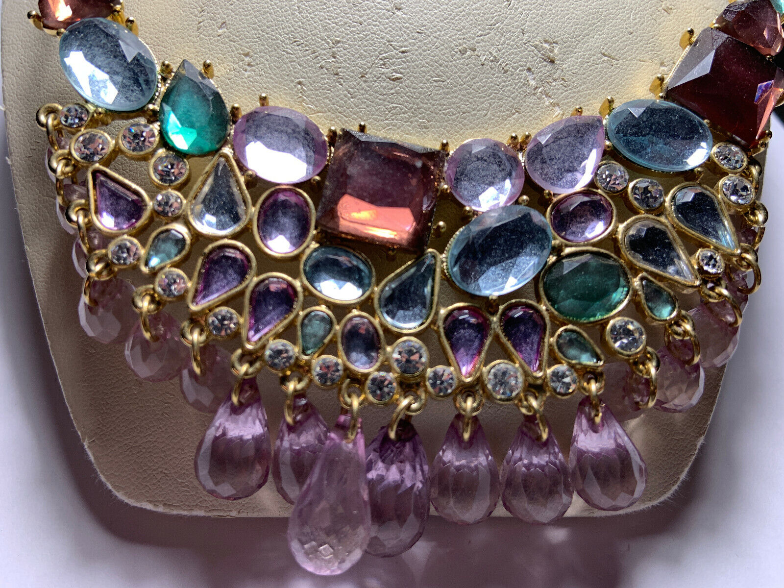 Vintage Arnold Scaasi gold tone multicolored hang… - image 8