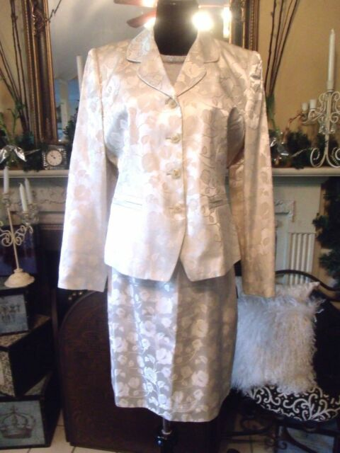 Mother Of Bride Blush By Spiegel Cream Tone On Tone Floral Skirt