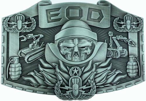 EOD Belt Buckle Old Antique Silver