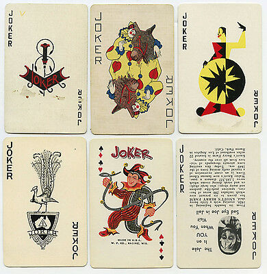 VINTAGE JOKERS LOT & NINE SINGLE JOKER SWAP PLAYING CARDS