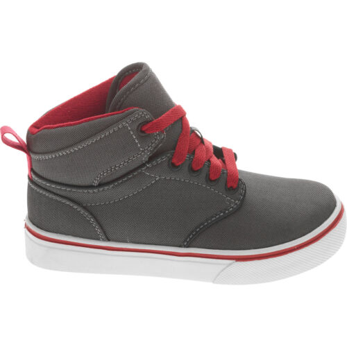 Faded Glory Youth Boys/' Gray//Red Lace-up Casual Hi-Top Sneaker//Shoes 13-6