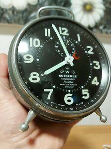 Vintage-WEHRLE-Commander-Alarm-Clock-WESTERN-GERMANY