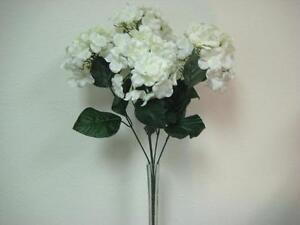Cream hydrangea silk flowers bush artificial 23 bouquet 5 5004cr image is loading cream hydrangea silk flowers bush artificial 23 034 mightylinksfo