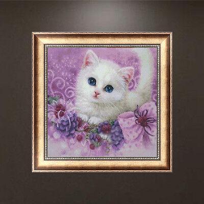 5D DIY Diamond Painting Cute Little Cat Embroidery Cross Stitch Home Decor