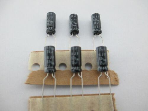 11mm 105 ℃ 20 Piezas Elna RJF 15mfd 63v 15uf De Alta Frecuencia Capacitor Electrolítico 5