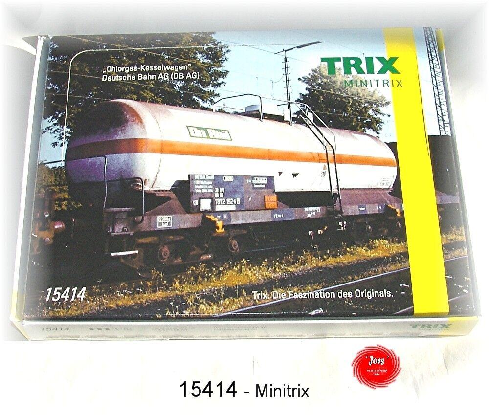 grandes ofertas Minitrix 15414 15414 15414 - Wagen-DisJugar  Chlorgas-Kesselwagen- Nuevo en Emb. Orig.  contador genuino