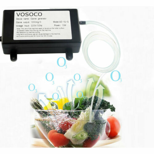 Ozone Generator Pro 1000mg Mold Control Portable Home Air Water Purifier Machine