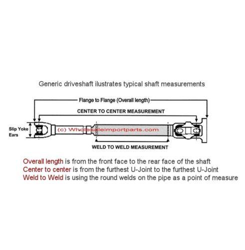 DURASHAFT® FORD EXPLORER 4.0L 4.6L Front Driveshaft 2002-05 Propeller shaft