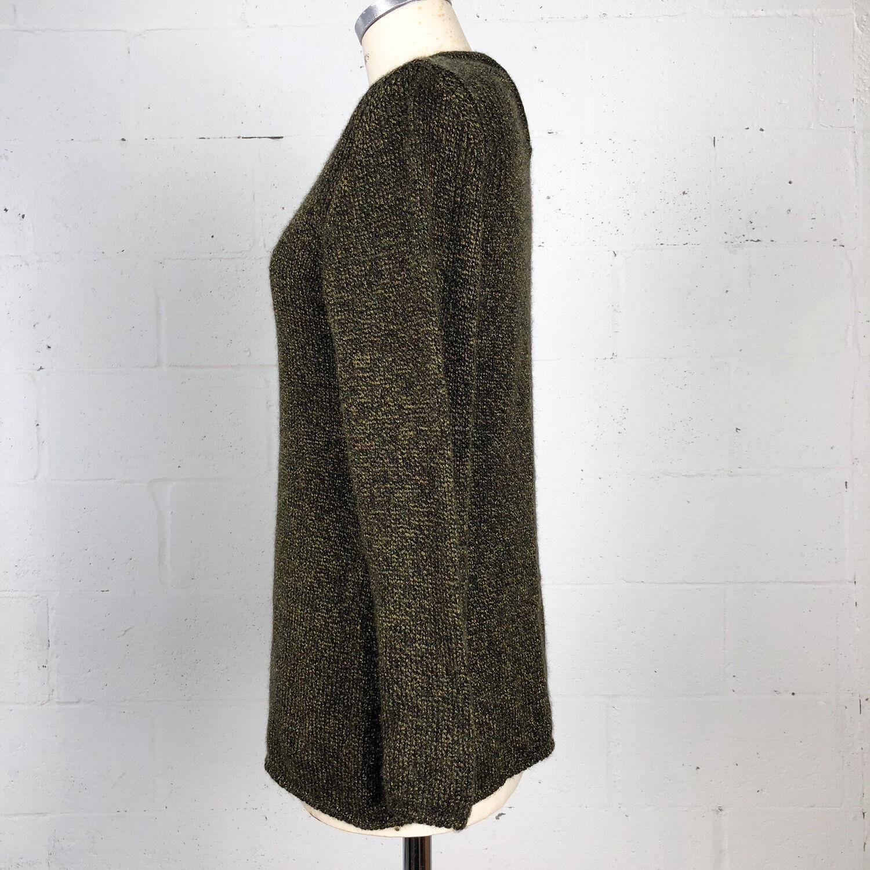 Daniel & & & Rebecca Womens Sweater Size S Olive gold Wool Blend Slit-Sleeve c8238f