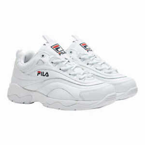 New-Fila-Women-039-s-Disarray-White-Leather-Synthetic-Sneakers-Shoes-PICK-SIZE