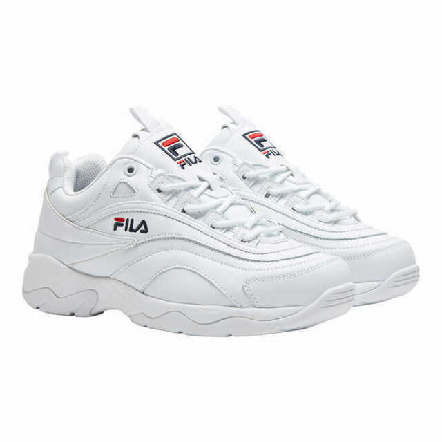 New Fila Women's Disarray White Leather Synthetic Sneakers Shoes PICK SIZE