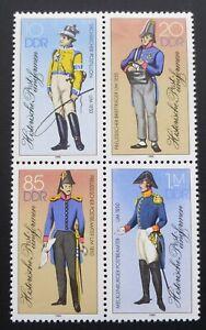 DDR 1986 Zusammendruck Mi.-Nr. 2997II-3000II, postfrisch. - Aalen, Deutschland - DDR 1986 Zusammendruck Mi.-Nr. 2997II-3000II, postfrisch. - Aalen, Deutschland